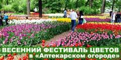 XV ВЕСЕННИЙ ФЕСТИВАЛЬ ЦВЕТОВ в «Аптекарском огороде»